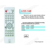 China LCD RM-D761 TV/DVB/SAT/DVD Universal remote control for sale