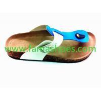 FM-1202015 new TPR sole dual color comfortable sandal white/blue