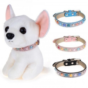 China Chiwava Colorful Bling Rhinestone Luxury Dog Collar on sale