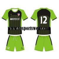 China 100% polyester printing soccer uniform, soccer jer on sale