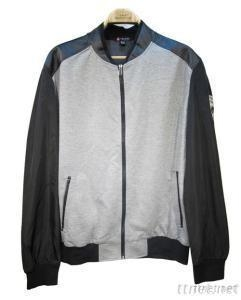 China Casual Fashion Motorcycle Jacket, Men PU Leather Sleeve Jacket on sale