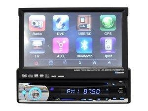 China 1-DIN 7 HD 800*480 Pixels TFT-LCD Car DVD Player with GPS on sale