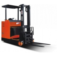 Small turning radius, available in narrow aisle; Wide solid chassis ensures stability