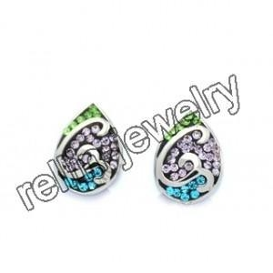 China Stainless steel crystal studs on sale