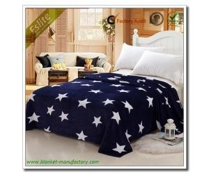 China Flannel Fleece Blanket New Design Super King Size Thermal Blanket Star Coral Fleece Printed Blanket on sale