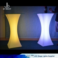 China Led furniture Square led cocktail bar table on sale