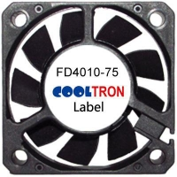 Fan / Blower FD4010-75 SeriesDC AXIAL FAN 40 x 40 x 10mmAir Flow:4.50 ~ 8.30 CFM