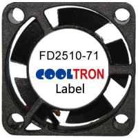 Fan / Blower FD2510-71 SeriesDC AXIAL FAN 25 x 25 x 10mmAir Flow:1.70 ~ 3.10 CFM