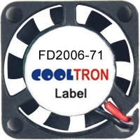 Fan / Blower FD2006-71 SeriesDC AXIAL FAN 20 x 20 x 06mmAir Flow:0.90 ~ 1.40 CFM