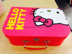 China Hello kitty cardboard suitcase for baby on sale