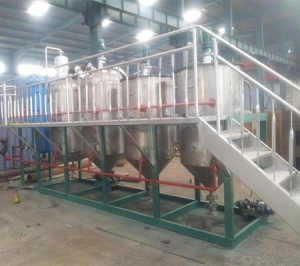 China Oil refinery 2T stainless steel crude palm oil refining machine on sale