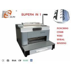 China New Design Multifunction Punching and Comb Wire Spiral Coil Binding Machine(SUPER4&1) on sale