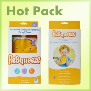 China Squeeze refillable baby food pouch on sale
