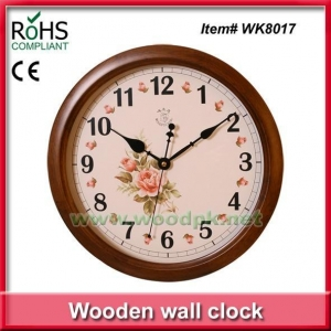 China WK801734cm Woodpecker wooden quartz wall clock on sale