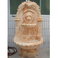 China Garden Carving Animal Lion Head Wall Fountain on sale