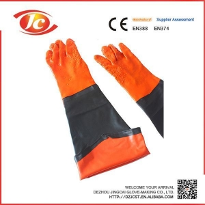 China Sleeve gloves PVC coated gloves on sale