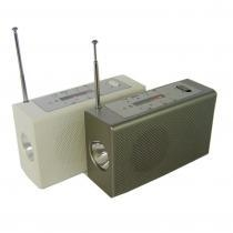 China Hand crank flashlight radio with MSD card&charger on sale