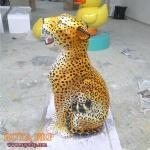 China Fiberglass Decoration FRP Leopard on sale
