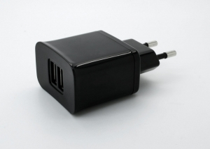 China 10.5W Dual USB AC Travel Wall Charger on sale