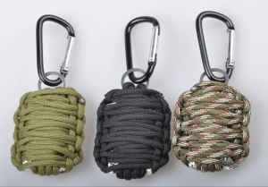 China Paracord Home Carabiner Survival Kit with Sharp Eye Knife on sale