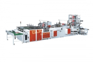 China Fully Automatic Plastic Handle Bag Making Machine(Four Functions) GH-800 on sale