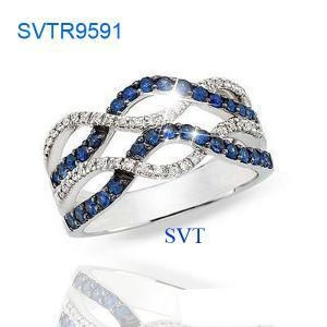 China sterling silver ring SVTR9591 on sale