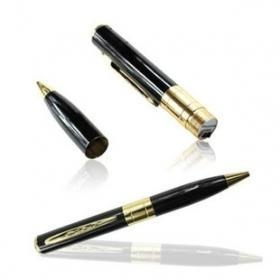 China Free Shipping 720x480 Golden Pinhole Pen Camera DVR on sale