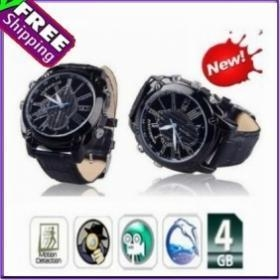 China Free Ship 4GB 1080P HD Video Camera Watch Motion Night Vision on sale
