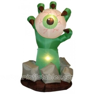 China Halloween Decorations 2m Halloween Inflatable Monster Hand with Eyeball Yard Decoration on sale