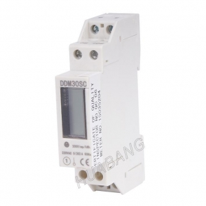 China Single Phase Din Rail KWH Meter on sale