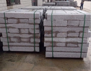 China curbstone/kerb stone red granite curbstone on sale