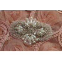 China Beaded Rhinestone applique,crystal rhinestone patch for Garment Accessories Hair Accessories on sale