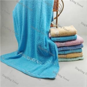 China cotton plain dyed bright colored bath towel on sale