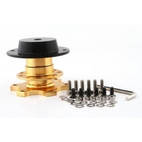 Quick Release Fasteners Golden Steering Wheel Snap Off Quick Release Hub Adapter Boss kit Universal
