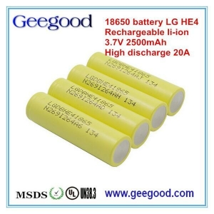 China China factory original new LG 18650 HE4 battery 3.6v 2500mah high rate 20A battery on sale