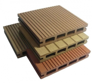 China High Gloss PVC Edge Banding hollow woodgrain groove WPC decking on sale