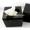 China Hot sale square black acrylic facial tissue paper box for sale