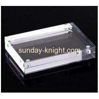 Custom design acrylic block magnetic photo picture frame APK-030