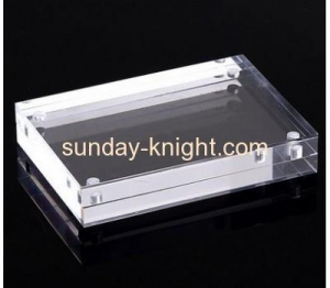 China Custom design acrylic block magnetic photo picture frame APK-030 on sale