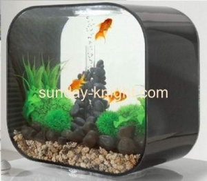 China Transparent and black acrylic fish aquarium FTK-016 on sale