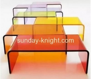China Clear acrylic modern side table AFK-004 on sale