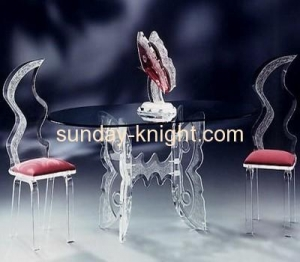 Quality Transparent plexiglass ghost chairs and modern side table AFK-014 for sale