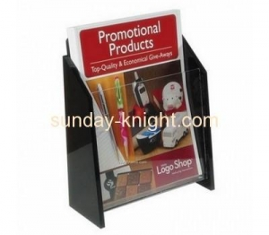 China Custom plastic file holder paper file holder acrylic magazine holder BHK-040 on sale