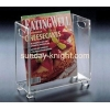 China Transparent acrylic magazine display holder BHK-018 for sale