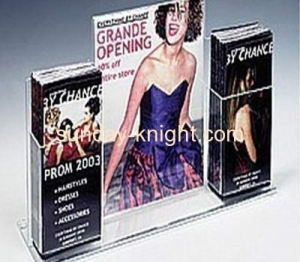 China Clear acrylic brochure holders 3 in 1 BHK-020 on sale