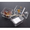 China Transparent acrylic storage box for cosmetics with lid MDK-026 for sale