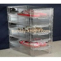 Acrylic shoe display case with 6 drawers DBK-019