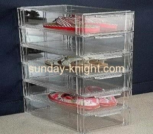 China Acrylic shoe display case with 6 drawers DBK-019 supplier