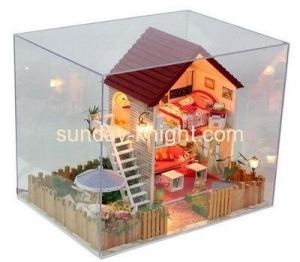 China Acrylic display cases wholesale acrylic display toy box DBK-044 on sale