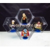 China 2016 fashion design elegant six square acrylic toys display storage box 4 in 1 DBK-027 for sale
